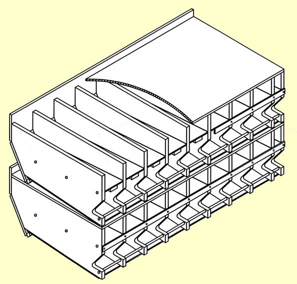 S362 Rack Plans for 3-5/8 inch to 4-1/4 inch diameter cans